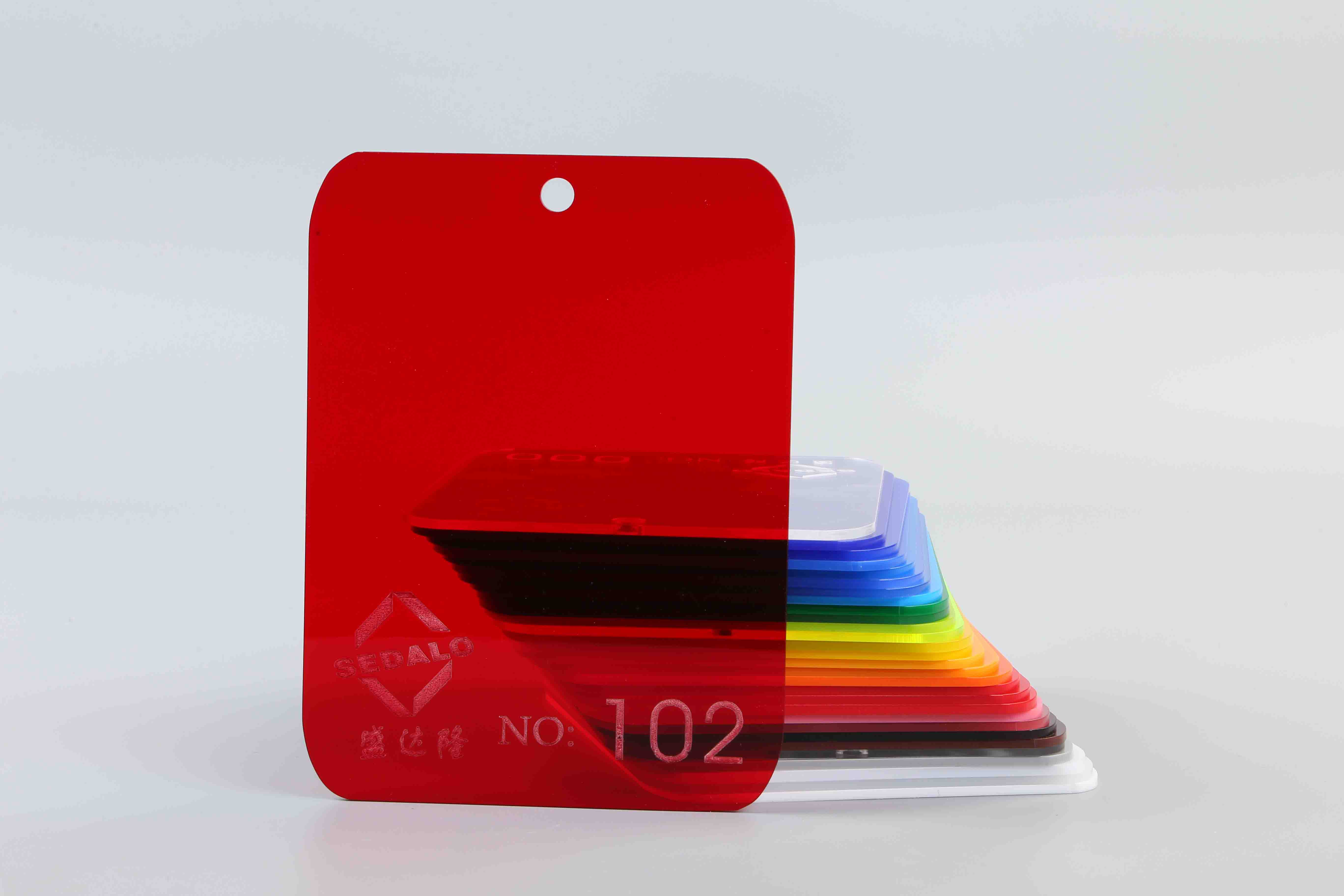Transparent Red Color Acrylic Sheet No.102
